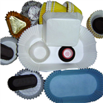 Oval cake paper cup mould